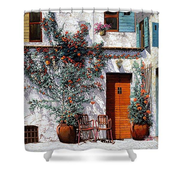 il cortile bianco Shower Curtain by Guido Borelli