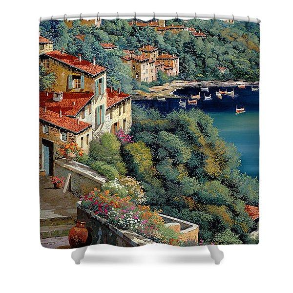 il promontorio Shower Curtain by Guido Borelli