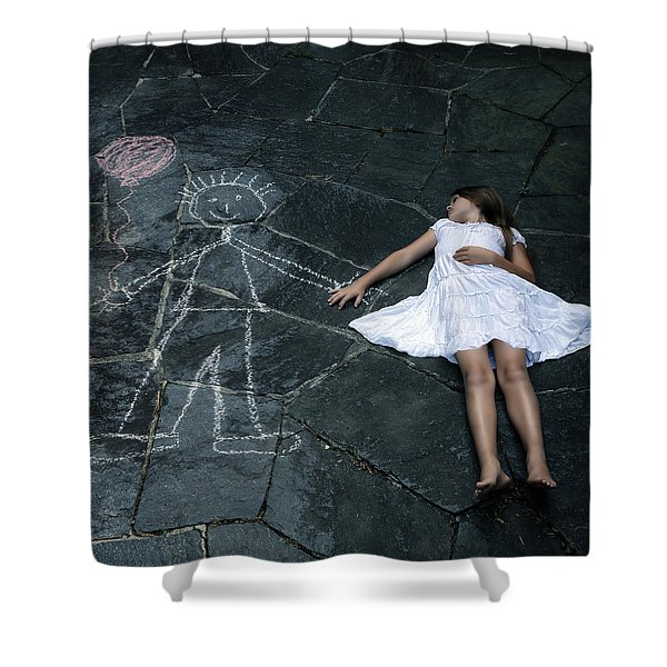 imaginary friend Shower Curtain by Joana Kruse