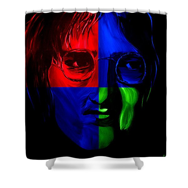 Imagine Shower Curtain by Mark Moore