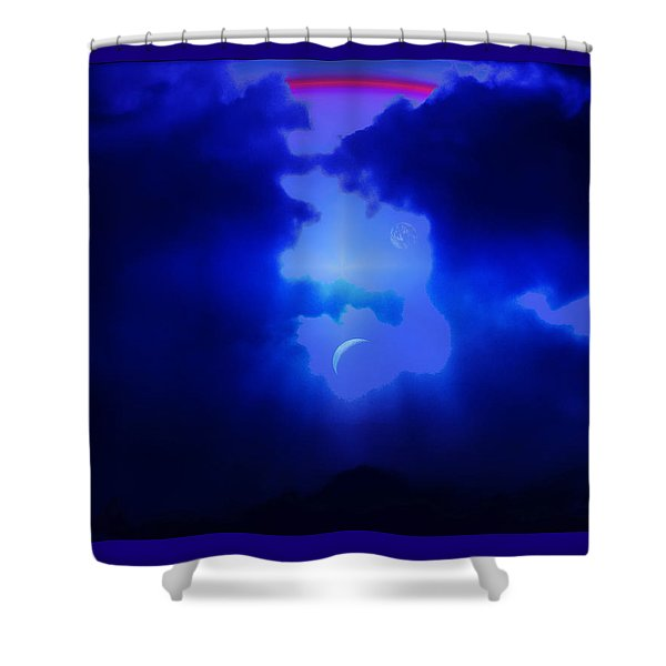 Imagine Somewhere Higher Shower Curtain by Kellice Swaggerty