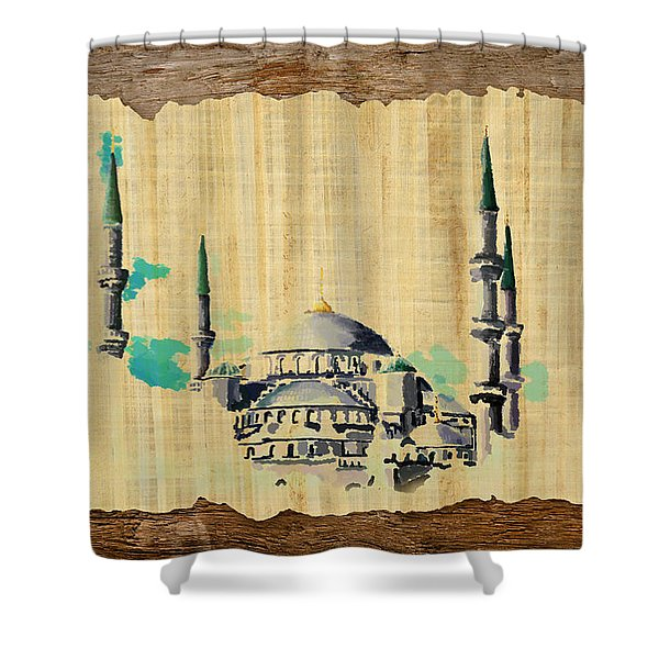 Impressionistic Masjid e Nabwi Shower Curtain by Catf