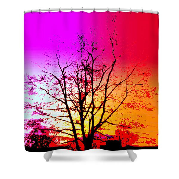 In A Bubble Shower Curtain by Hilde Widerberg