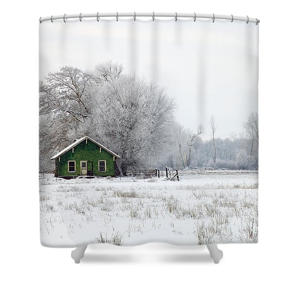 In a Sea of White Shower Curtain by Mike  Dawson