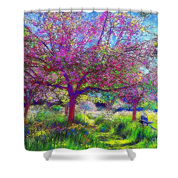 In Love with Spring Shower Curtain by Jane Small