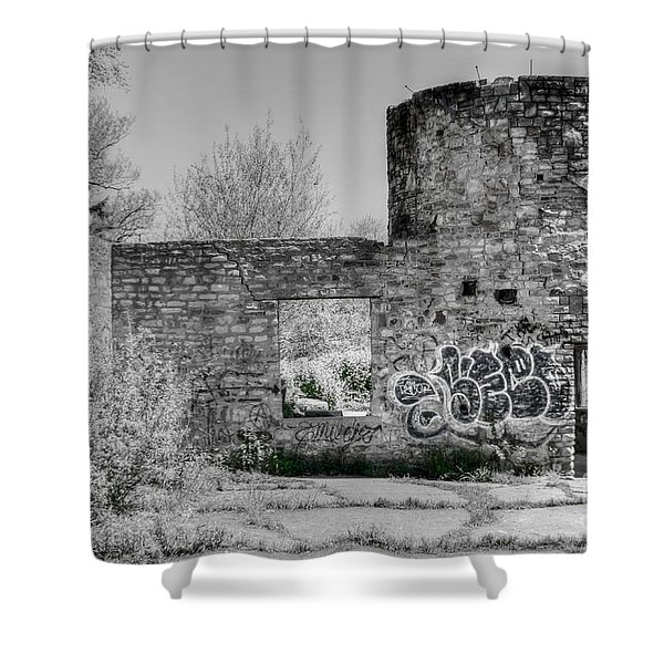 In Side The Boathouse Shower Curtain by Kathleen Struckle