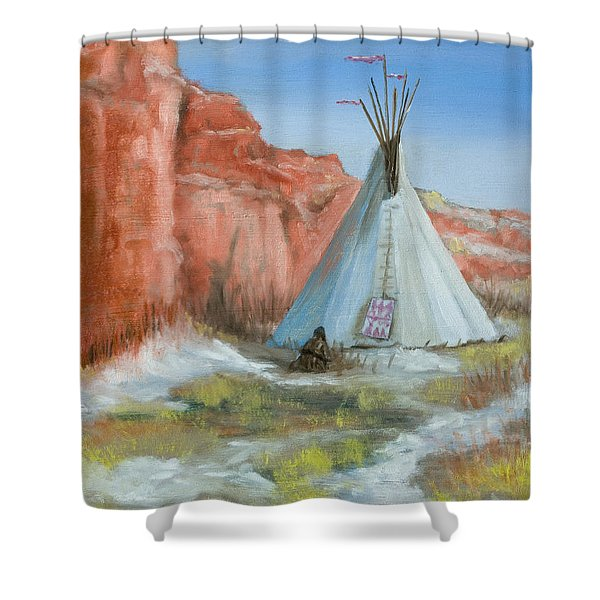 In The Canyon Shower Curtain by Jerry McElroy