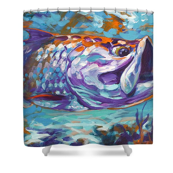 In The Flats Shower Curtain by Mike Savlen