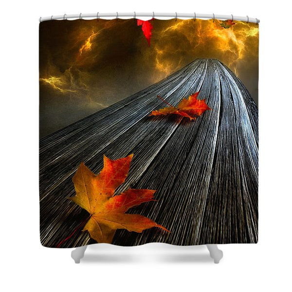 In The Storm Eye Shower Curtain by Veikko Suikkanen