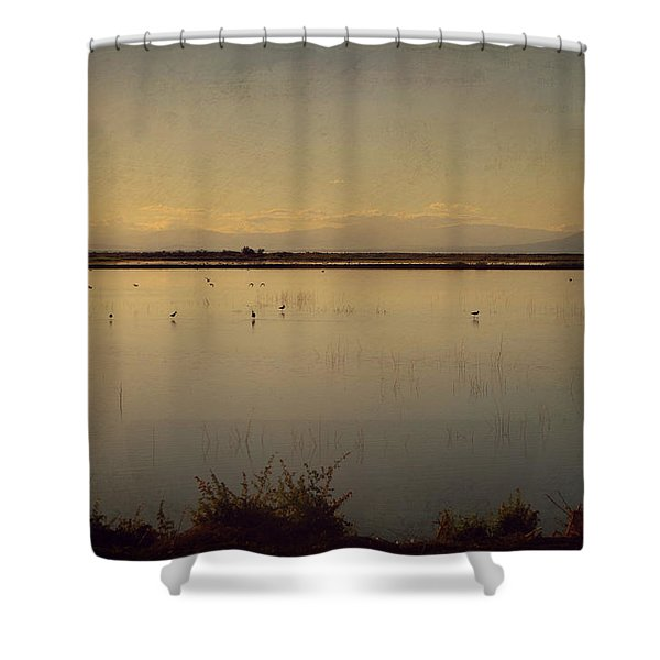 In These Peaceful Moments Shower Curtain by Laurie Search
