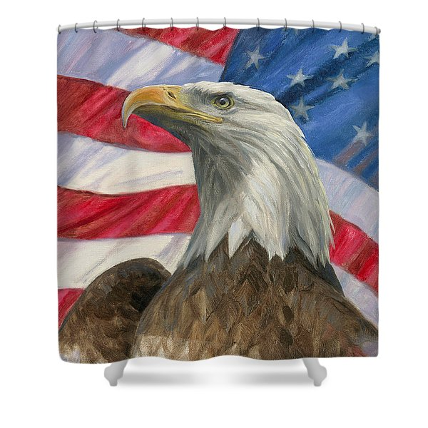 Independence Day Shower Curtain by Gregory Doroshenko