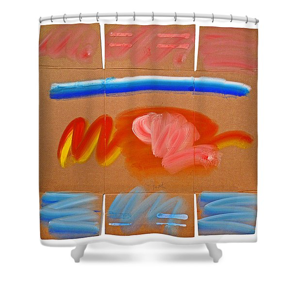 Indian Land Shower Curtain by Charles Stuart