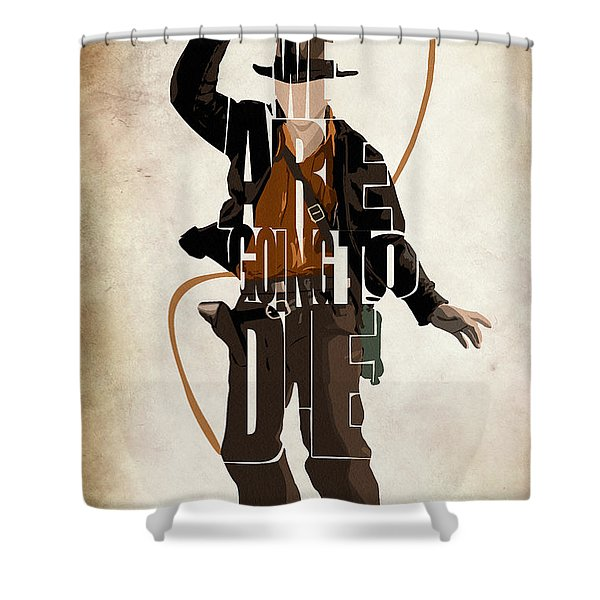 Indiana Jones VOL 2 - Harrison Ford Shower Curtain by Ayse Deniz