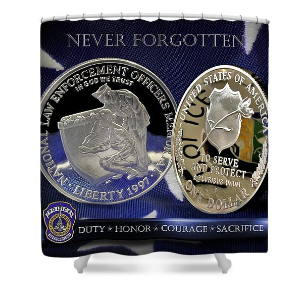 Indianapolis Metro Police Memorial Shower Curtain by Gary Yost