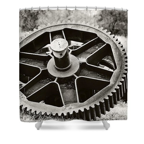 Industrial Gear Shower Curtain by Scott Pellegrin