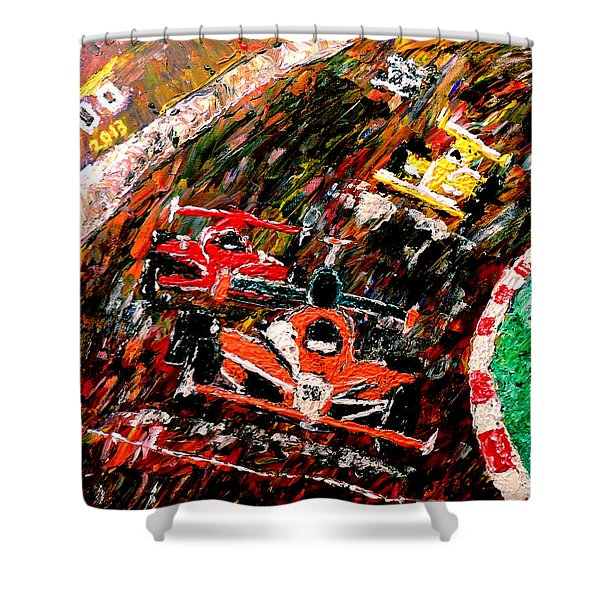 Indy 500  Shower Curtain by Mark Moore