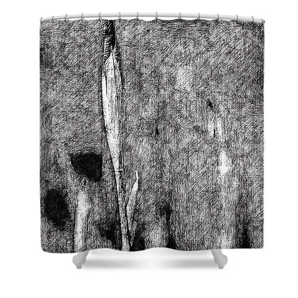 Ink Iris Shower Curtain by Yevgeni Kacnelson