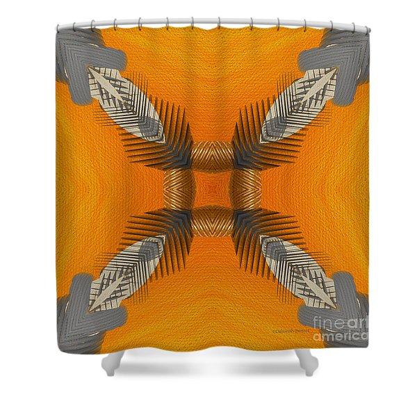 Inner Chi Shower Curtain by Deborah Benoit