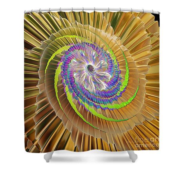 Inner Twister Shower Curtain by Deborah Benoit