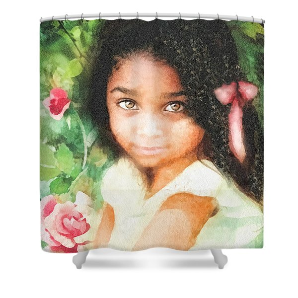 Innocence Shower Curtain by Mo T