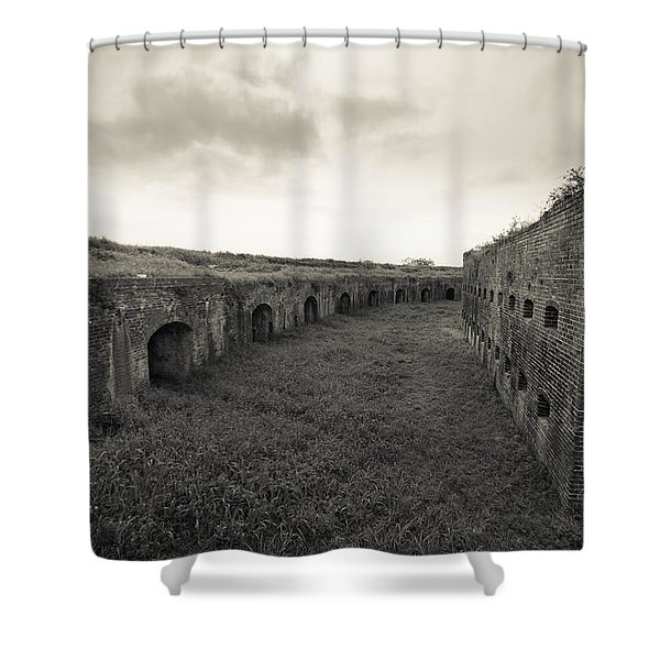 Inside Fort Macomb Shower Curtain by David Morefield