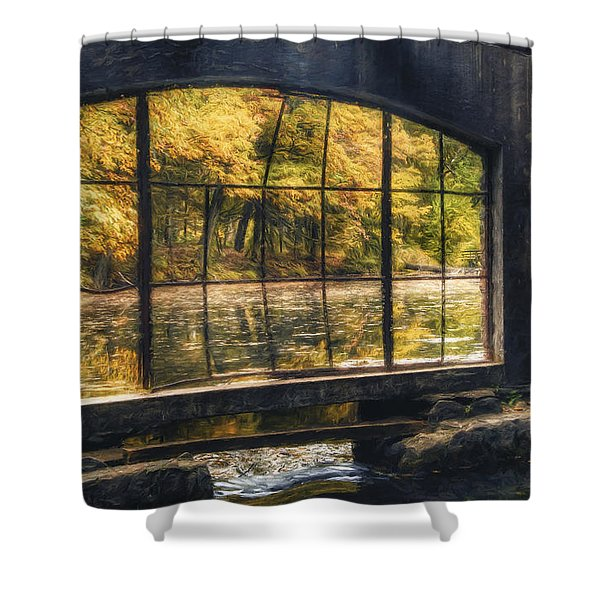 Inside The Old Spring House Shower Curtain by Scott Norris
