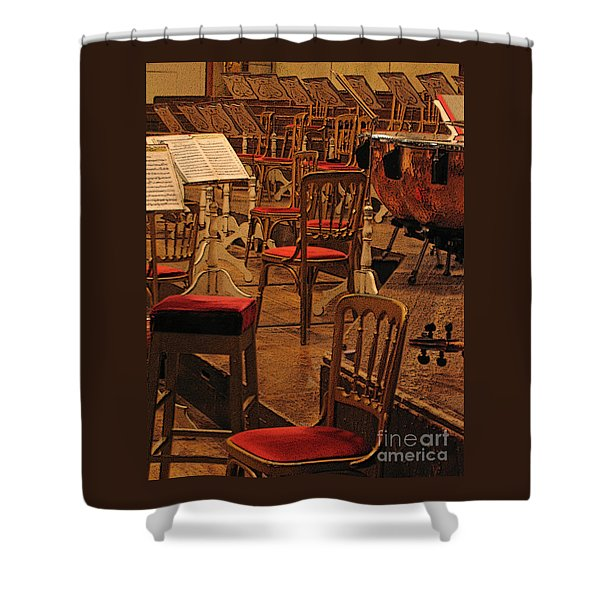 Intermission Shower Curtain by Ann Horn
