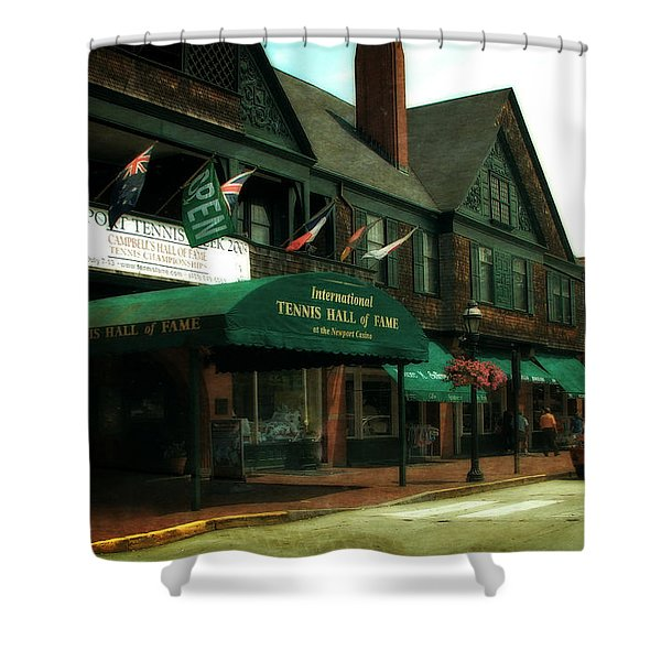 International Tennis Hall Of Fame Shower Curtain by Michelle Calkins