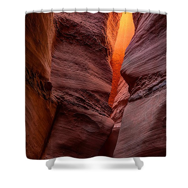 Into the Cravasse Shower Curtain by Dustin  LeFevre