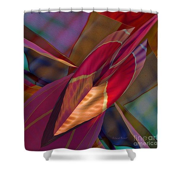 Into The Soul Shower Curtain by Deborah Benoit