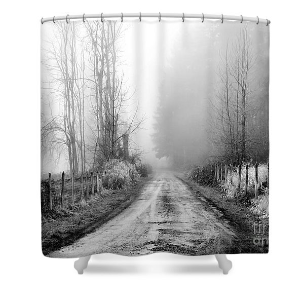 Into The Unknown Shower Curtain by Rory Sagner
