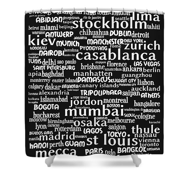 Intransit 20130625bw Shower Curtain by Wingsdomain Art and Photography