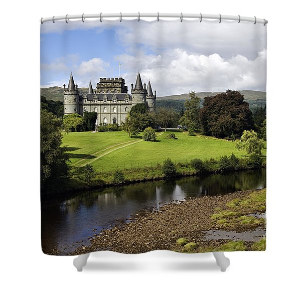 Inveraray Castle - D002464 Shower Curtain by Daniel Dempster