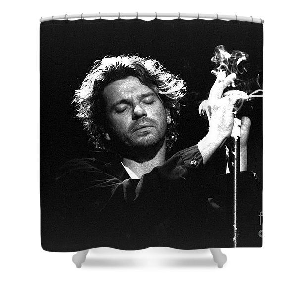 INXS-Michael-GP04 Shower Curtain by Timothy Bischoff