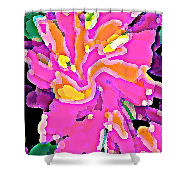 IPHONE CASES COLORFUL FLOWERS ABSTRACT ROSES GARDENIAS TIGER LILY FLORALS CAROLE SPANDAU CBS ART 183 Shower Curtain by CAROLE SPANDAU