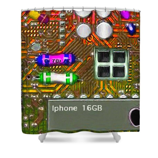 Iphone I-art m118 Shower Curtain by Wingsdomain Art and Photography