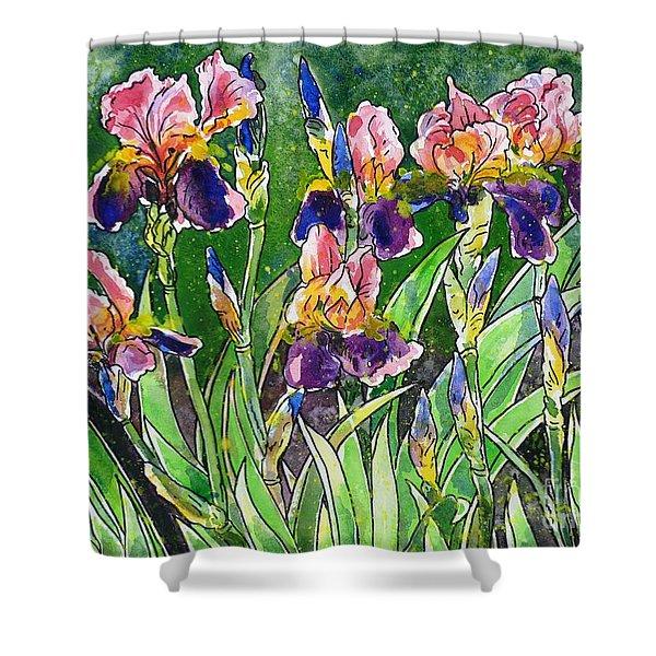 Iris Inspiration Shower Curtain by Zaira Dzhaubaeva