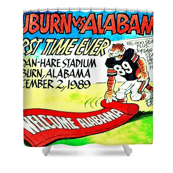 Iron Bowl '89 Shower Curtain by Benjamin Yeager