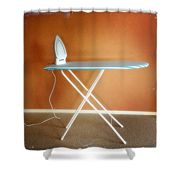 Iron on board Shower Curtain by Les Cunliffe