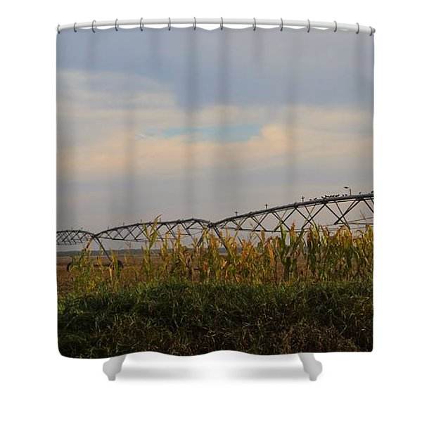 Irrigation On The Farm Shower Curtain by Dan Sproul