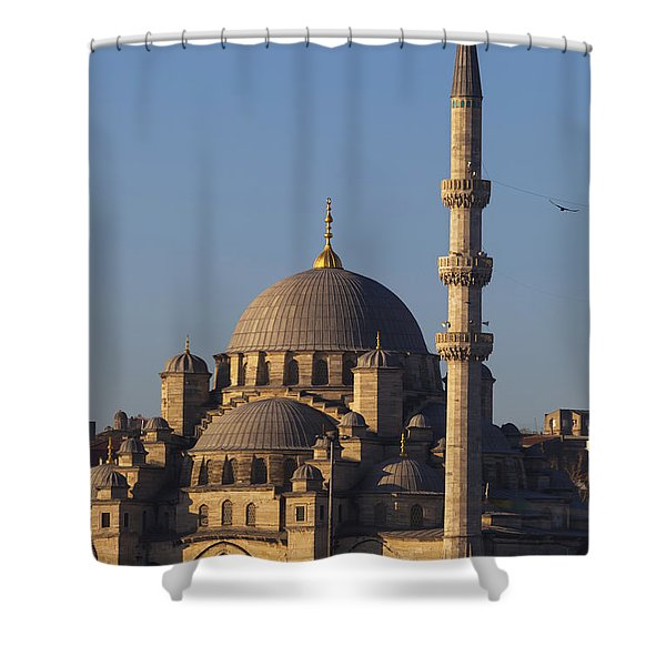 Islamic Mosque Istanbul, Turkey Shower Curtain by Mark Thomas