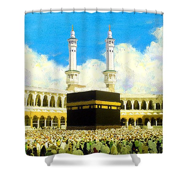 Islamic Painting 006 Shower Curtain by Catf