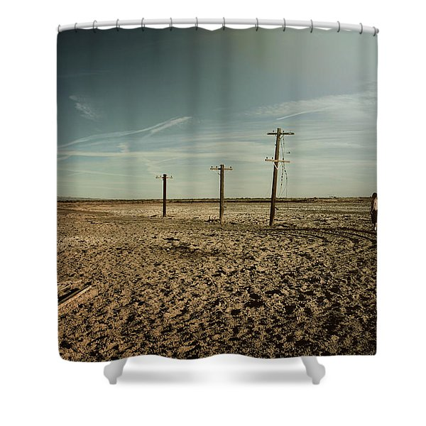 It Was a Strange Day Shower Curtain by Laurie Search