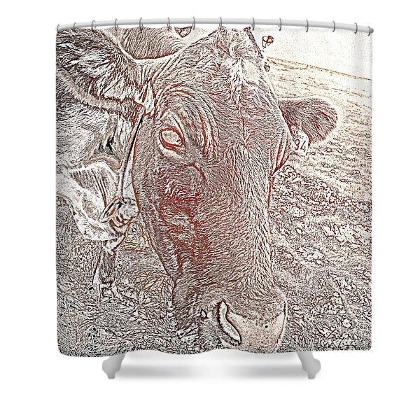Its a cows life  Shower Curtain by Hilde Widerberg