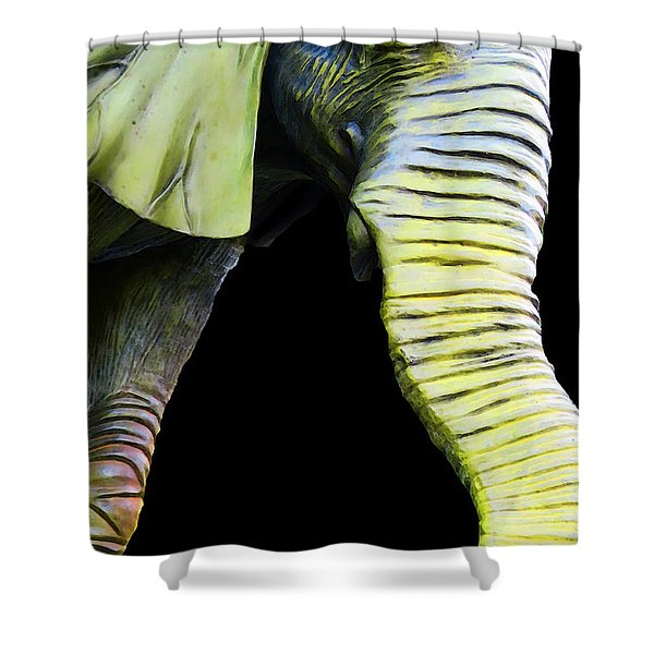 It's A Long Story - Unique Elephant Art Shower Curtain by Sharon Cummings