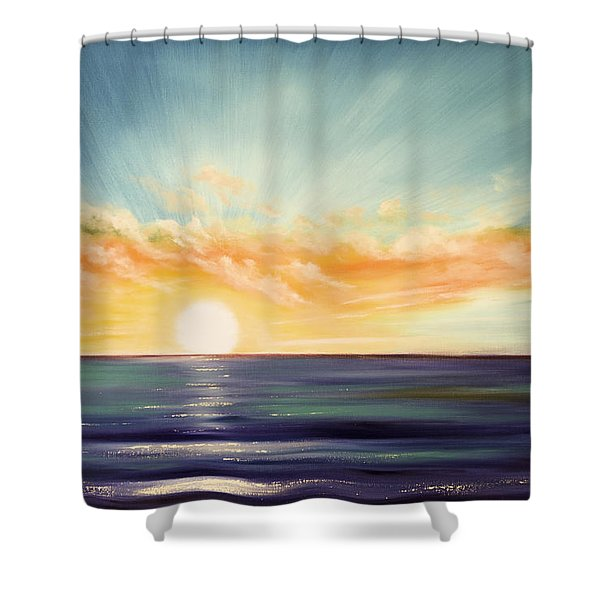 Shower Curtains - Its a New Beginning Somewhere Else Shower Curtain by Gina De Gorna