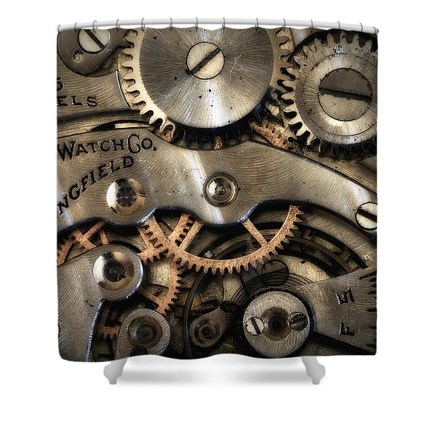 It's Time Shower Curtain by Robert Woodward