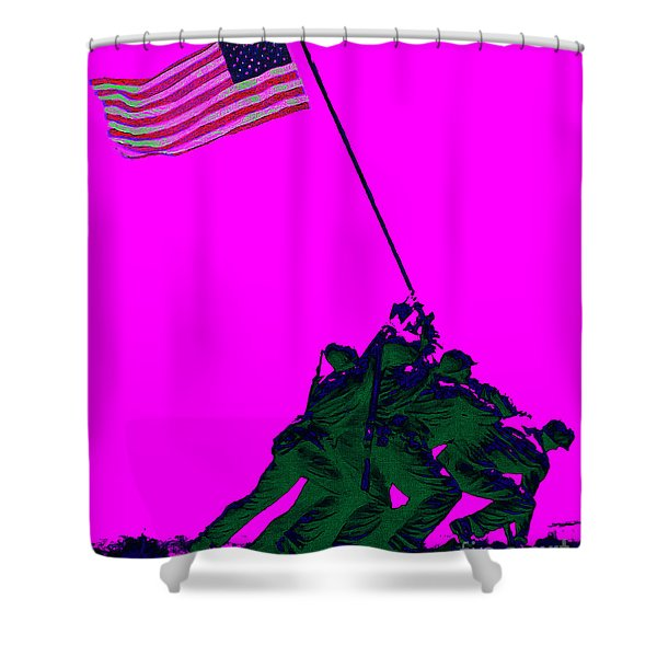 Iwo Jima 20130210 Shower Curtain by Wingsdomain Art and Photography