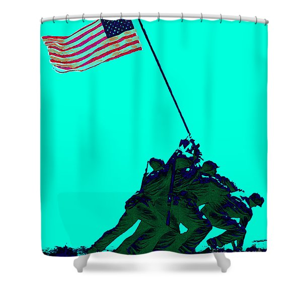 Iwo Jima 20130210m128 Shower Curtain by Wingsdomain Art and Photography