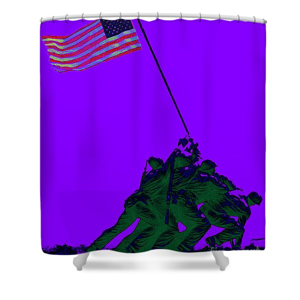 Iwo Jima 20130210m28 Shower Curtain by Wingsdomain Art and Photography